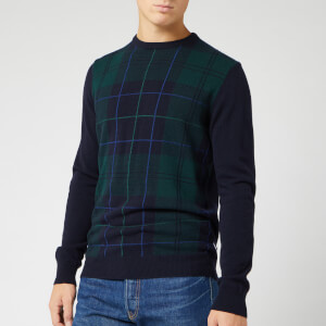 Barbour Heritage Men's Coldwater Crew Knit - Black Watch Tartan