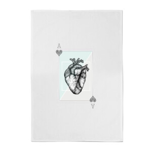 Ace Of Hearts Cotton Tea Towel