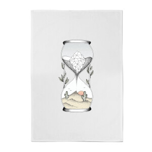 Time Is Running Out Cotton Tea Towel