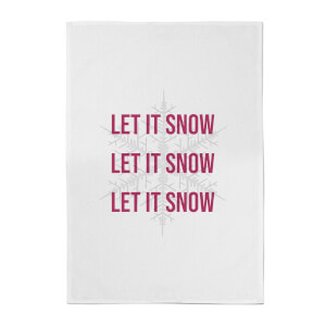 Let It Snow Cotton Tea Towel