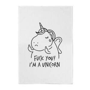F*** You! I'm A Unicorn Cotton Tea Towel