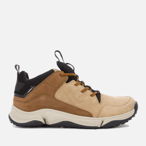 Clarks Men's Tri Path Mid Trainers - Tan Combi