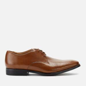 Clarks Men's Gilman Walk Leather Derby Shoes - Dark Tan