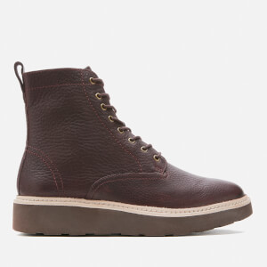 Clarks Women's Trace Pine Leather Lace Up Boots - Burgundy