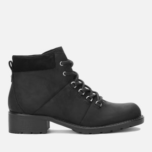 Clarks Women's Orinoco Demi Leather Hiking Style Boots - Black