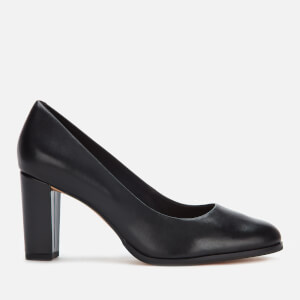 Clarks Women's Kaylin Cara Leather Court Shoes - Black