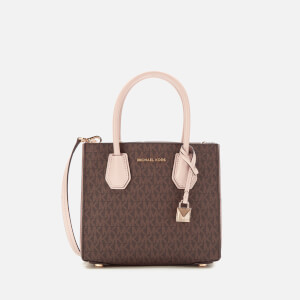 MICHAEL MICHAEL KORS Women's Mercer Medium Acordian Messenger Bag - Brown/Soft Pink
