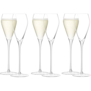 LSA Wine Prosecco Glasses 250ml - Set of 6