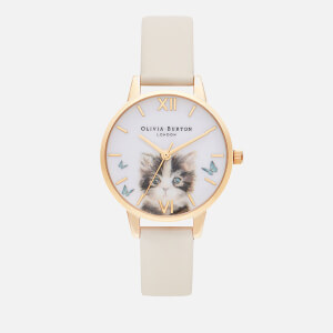 Olivia Burton Women's Illustrated Animals Watch - Vegan Nude & Gold