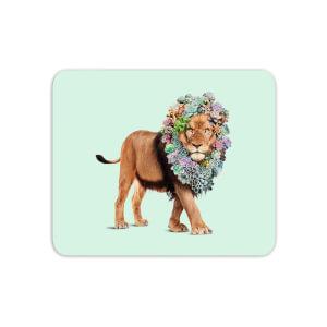 Floral Lion Mouse Mat