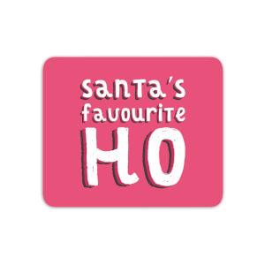 Santa's Favourite Ho Mouse Mat