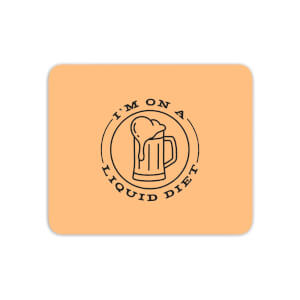 Liquid Diet Beer Mouse Mat