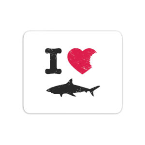 I Love Sharks Mouse Mat