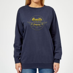 Limited Edition Braille Skate Company Women's Sweatshirt - Navy