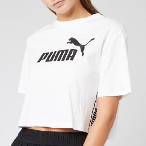 Puma Women's Amplified Cropped Short Sleeve T-Shirt - Puma White