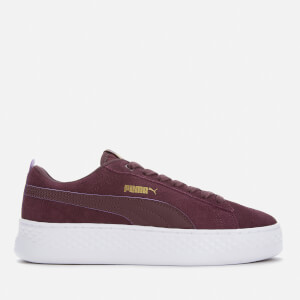 Puma Women's Smash Platform Low Trainers - Wine