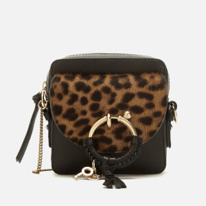 See By Chloé Women's Joan Small Leopard Cross Body Bag - Black