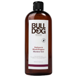 Bulldog Black Pepper & Vetiver Shower Gel 500ml: Image 1