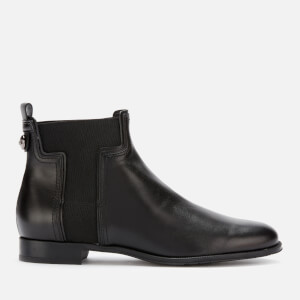 Tod's Women's Leather T Elastic Chelsea Boots - Black