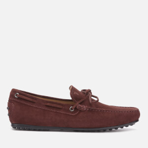 Tod's Men's Suede City Gommino Driving Shoes - Bordeaux