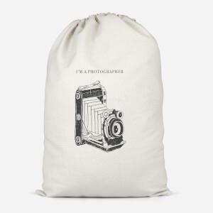 Photography Vintage Scribble Cotton Storage Bag