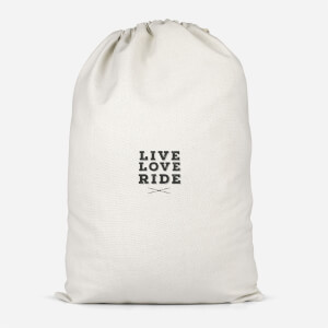 Live Love Ride Cotton Storage Bag