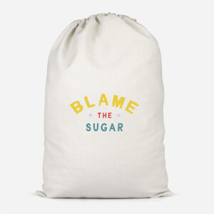 Blame The Sugar - Baby Pink Cotton Storage Bag