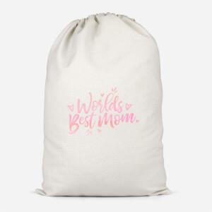 Worlds Best Mom Cotton Storage Bag