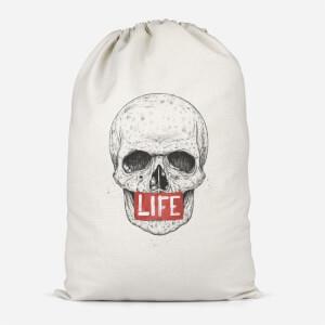 Life Skull Cotton Storage Bag
