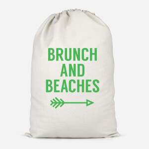 Brunch And Beaches Cotton Storage Bag