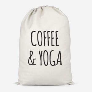 Coffee And Yoga Cotton Storage Bag