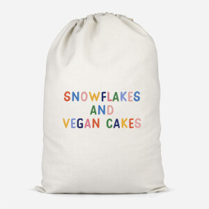Snowflakes And Vegan Cakes Cotton Storage Bag