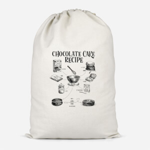 Chocolate Cake Recipe Cotton Storage Bag