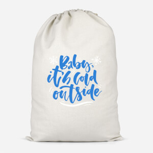 Baby It's Cold Outside Cotton Storage Bag