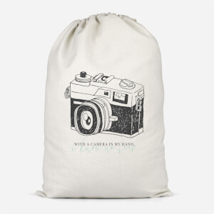 With A Camera In My Hand, I Know No Fear Cotton Storage Bag