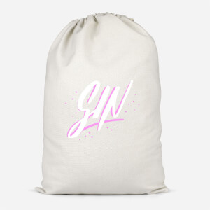 Gin Script Cotton Storage Bag