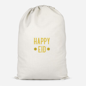 Happy Eid Gold Cotton Storage Bag