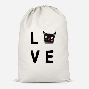 Cat Love Cotton Storage Bag