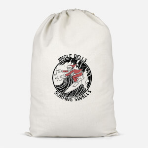 Jungle Bells, Surfing Swells Cotton Storage Bag