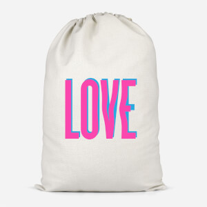 Love Glitch Cotton Storage Bag
