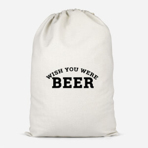 Wish You Were Beer Cotton Storage Bag