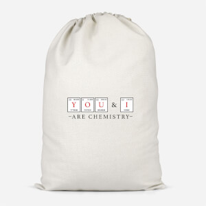 YOU & I Are Chemistry Cotton Storage Bag