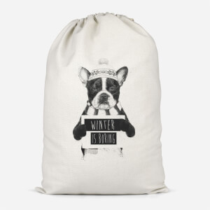 Winter Is Boring Cotton Storage Bag