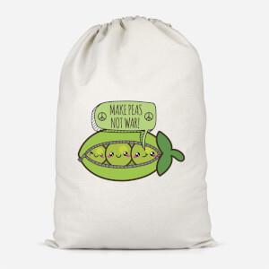 Makes Peas Not War Cotton Storage Bag