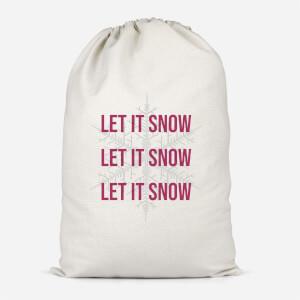 Let It Snow Cotton Storage Bag
