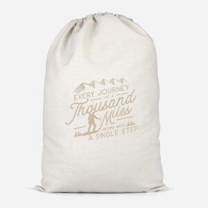 Every Journey Begins With A Single Step Cotton Storage Bag