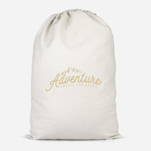Adventure Awaits The Brave Cotton Storage Bag