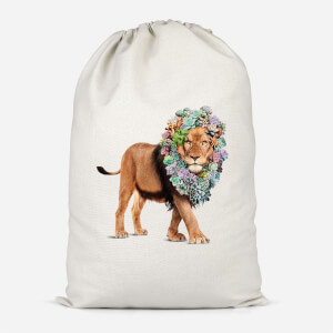 Floral Lion Cotton Storage Bag