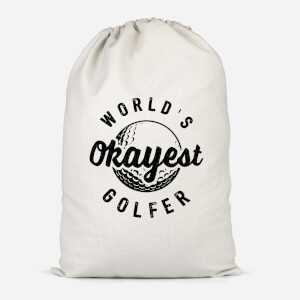 World's Okayest Golfer Cotton Storage Bag