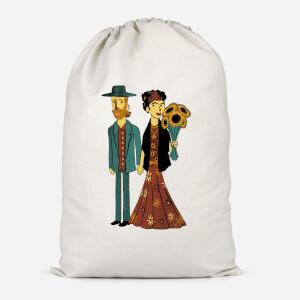 Love Is Art - Frida Kahlo And Van Gogh Cotton Storage Bag